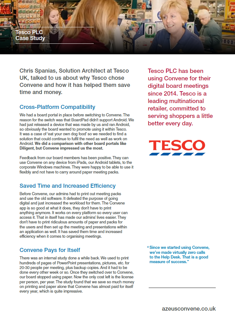 Tesco PLC Case Study